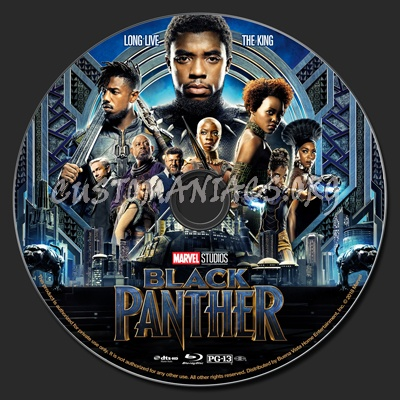 Black Panther 2018 Blu Ray Label Dvd Covers Labels By