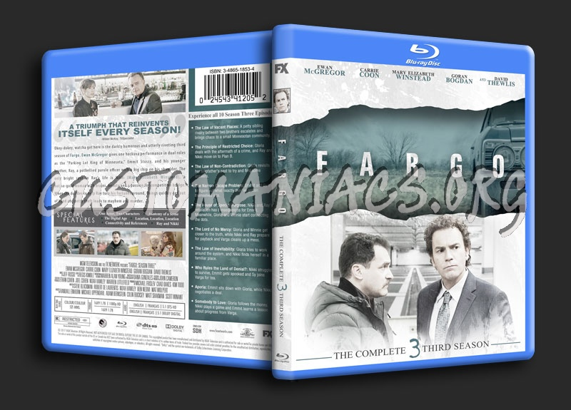 Fargo Season 3 blu-ray cover