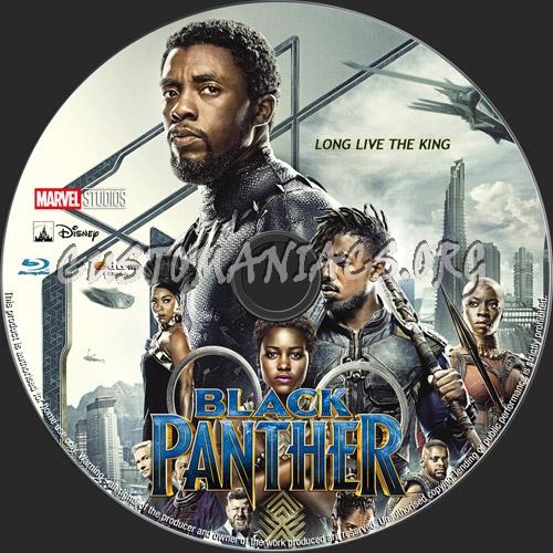 Black Panther blu-ray label