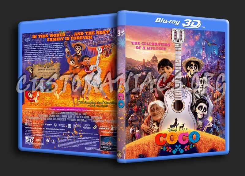 Coco 3D blu-ray cover