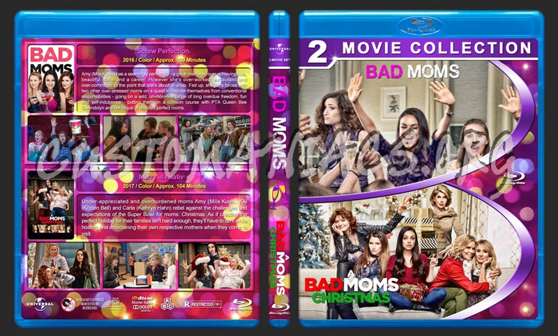 A Bad Moms Christmas Dvd Cover.Bad Moms A Bad Moms Christmas Double Feature Blu Ray Cover
