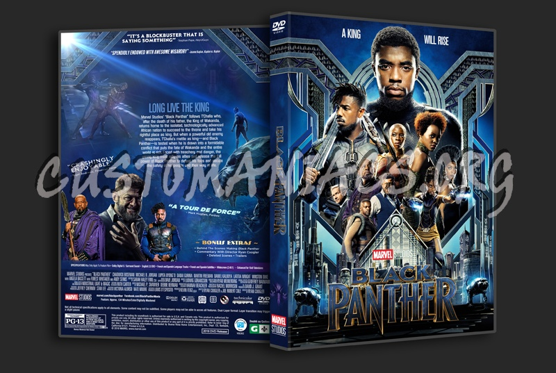 Black Panther 2018 Dvd Cover Dvd Covers Labels By Customaniacs