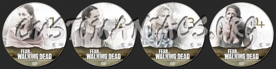 Fear the Walking Dead Season 3 dvd label
