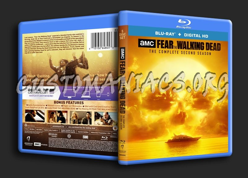 Fear The Walking Dead Season 2 Blu Ray Cover Dvd Covers