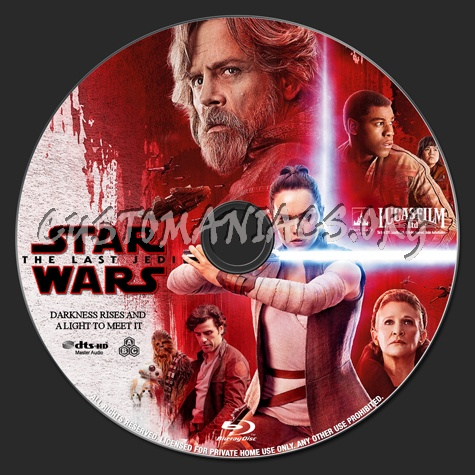 Star Wars: The Last Jedi blu-ray label