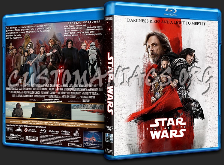 Star Wars: The Last Jedi blu-ray cover