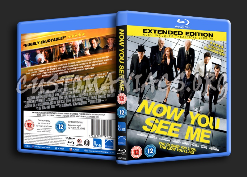 Now You See Me blu-ray cover