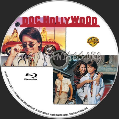 Doc Hollywood blu-ray label