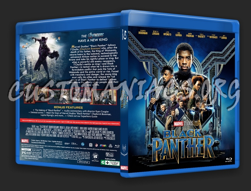 Black Panther Blu Ray Cover Dvd Covers Labels By Customaniacs