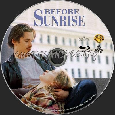 Before Sunrise blu-ray label
