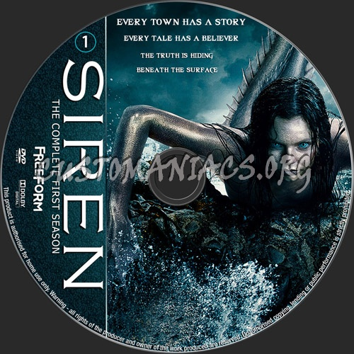 Siren Season 1 dvd label