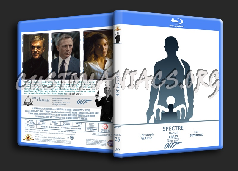 Spectre - The James Bond 007 Collection blu-ray cover