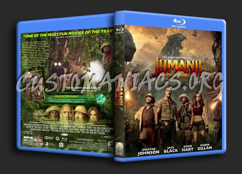 Jumanji: Welcome To The Jungle blu-ray cover