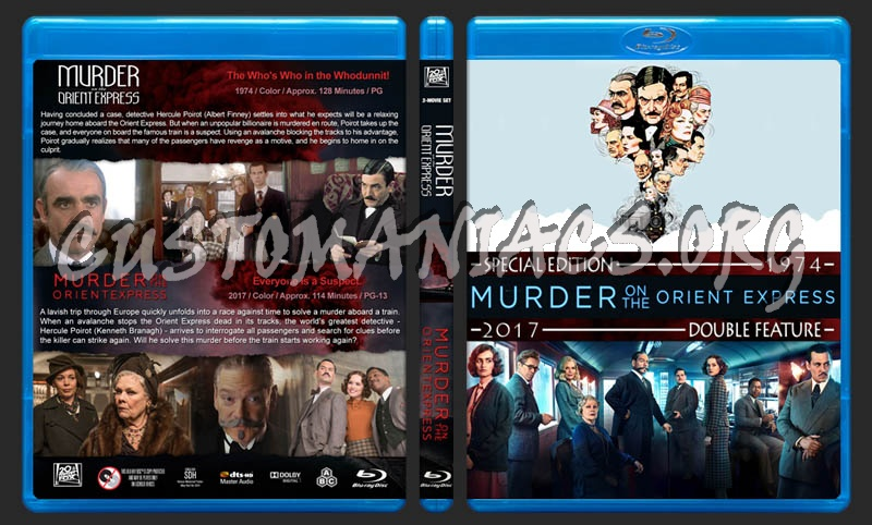 Murder on the Orient Express Double Feature blu-ray cover