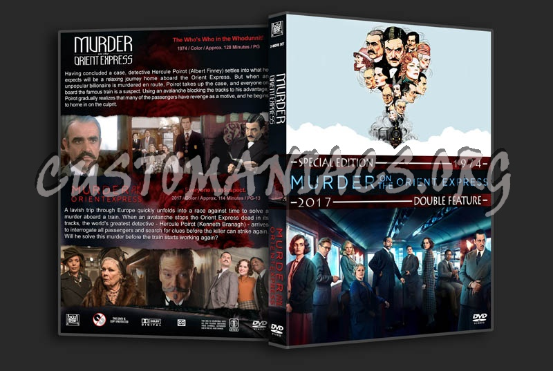 Murder on the Orient Express Double Feature dvd cover