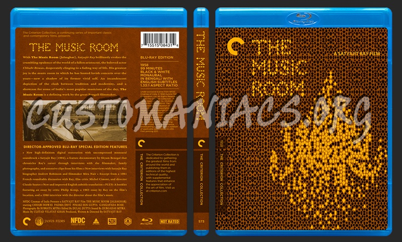 573 - The Music Room blu-ray cover