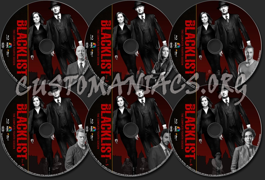 The Blacklist Season 4 blu-ray label