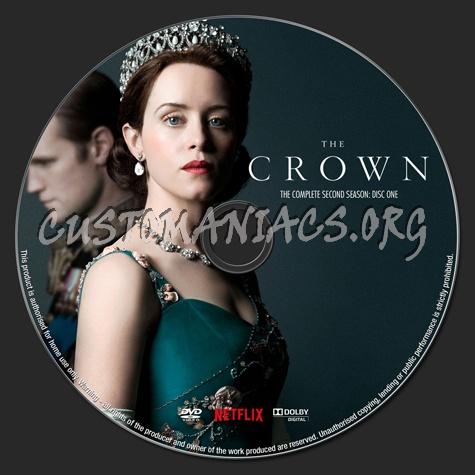 The Crown Season 2 dvd label