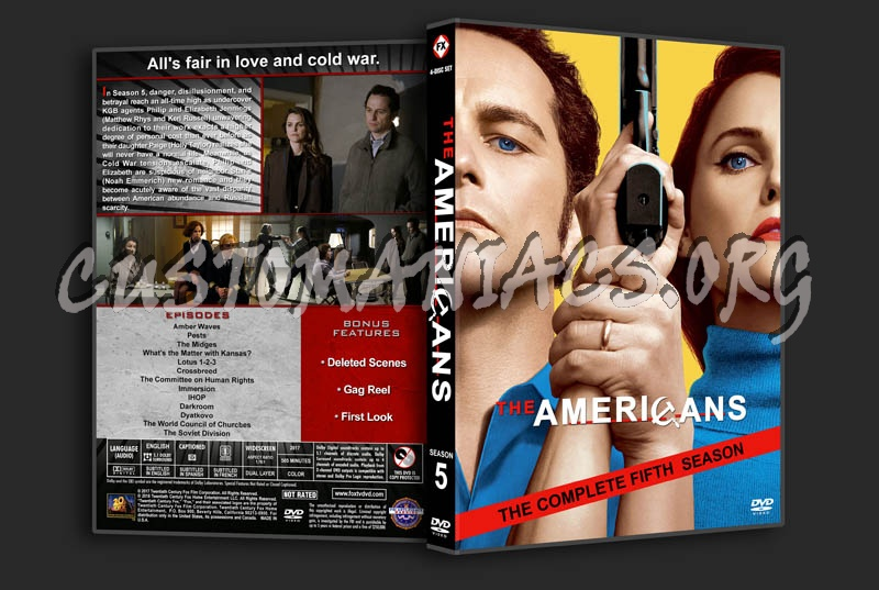 The Americans - Season 5 dvd cover