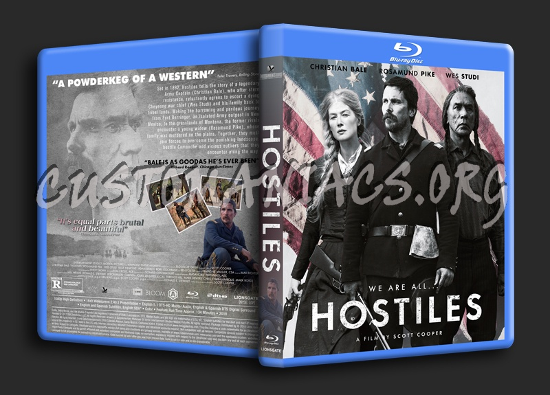 Hostiles blu-ray cover