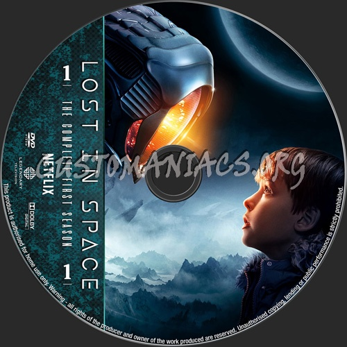 Lost In Space Season 1 dvd label