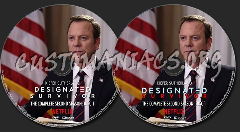Designated Survivor Season 2 dvd label