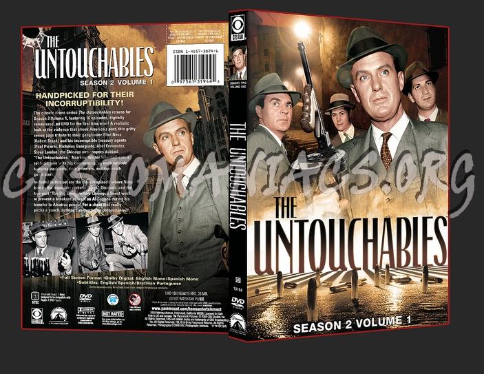 The Untouchables Season 2 Volume 1 dvd cover