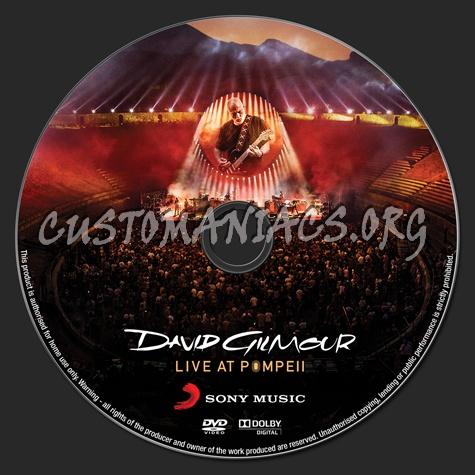 David Gilmour Live at Pompeii dvd label