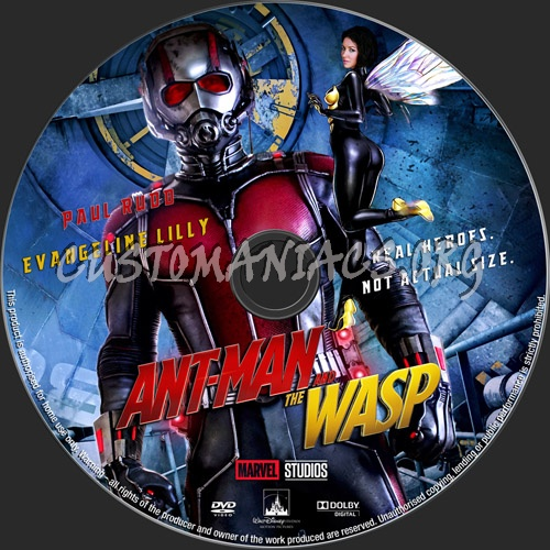 Ant-Man And The Wasp dvd label