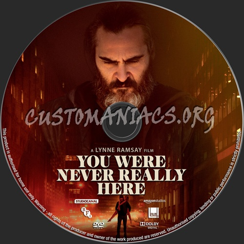 You Were Never Really Here dvd label