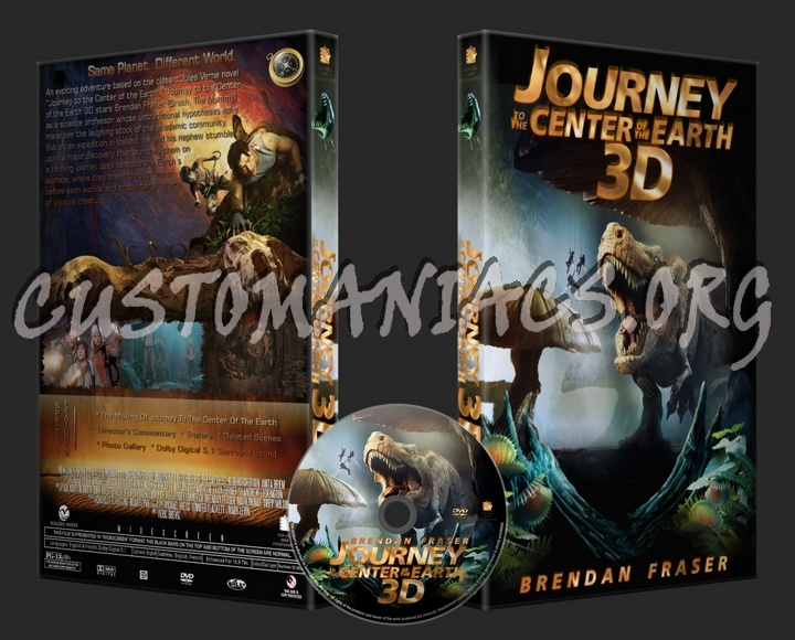 Journey To The Center Of The Earth 3D dvd cover