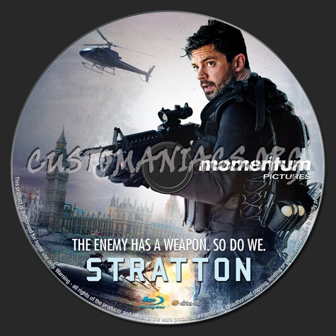 Stratton (2018) blu-ray label