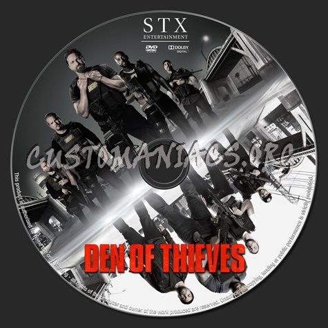 Den of Thieves (2018) dvd label