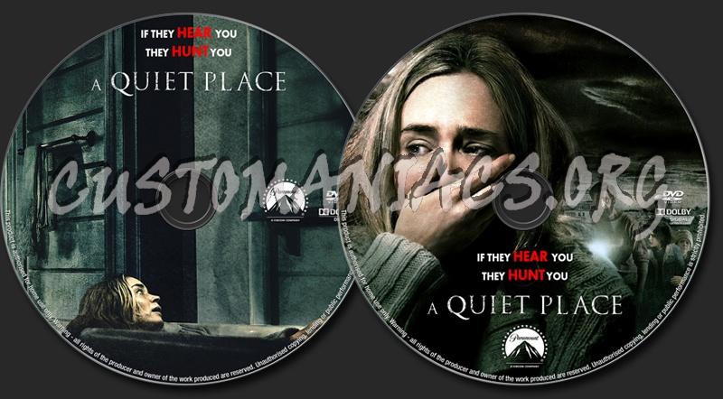 A Quiet Place (2018) dvd label