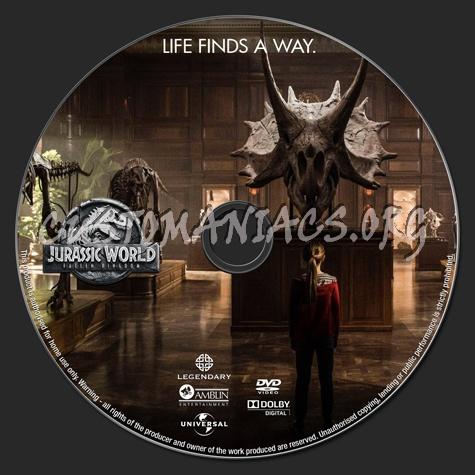 Jurassic World: Fallen Kingdom (2018) dvd label