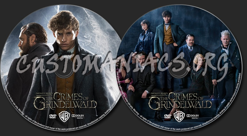 Fantastic Beasts: The Crimes of Grindelwald (2018) dvd label