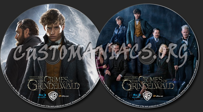 Fantastic Beasts: The Crimes of Grindelwald (2018) blu-ray label
