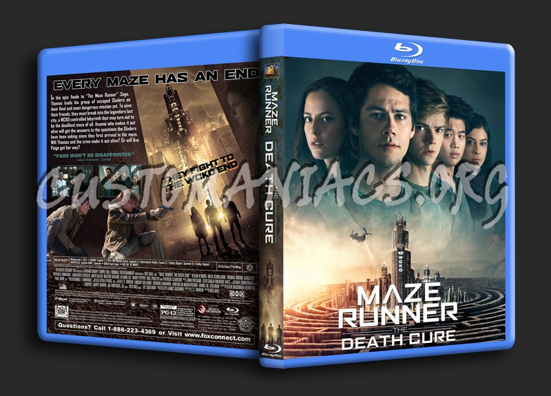 Maze Runner: The Death Cure blu-ray cover