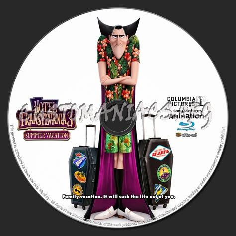 Hotel Transylvania 3: Summer Vacation blu-ray label