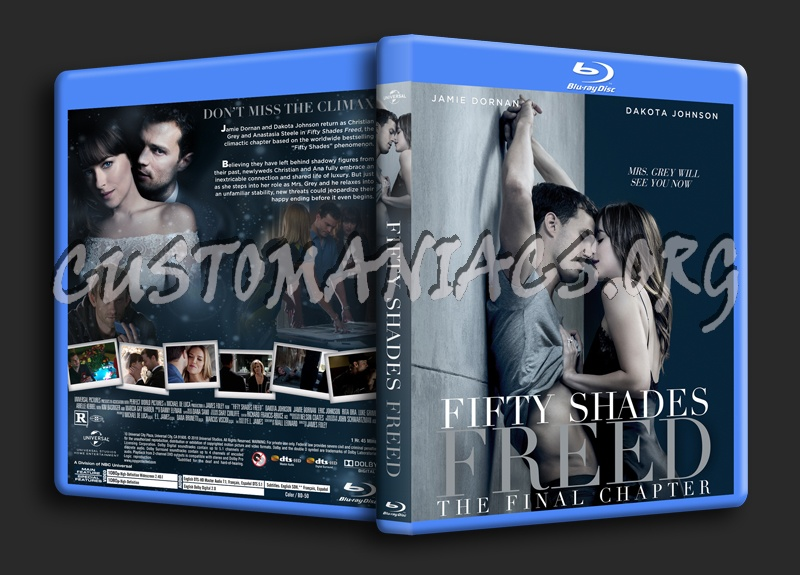 Fifty Shades Freed blu-ray cover