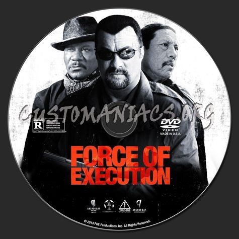 Force of Execution dvd label