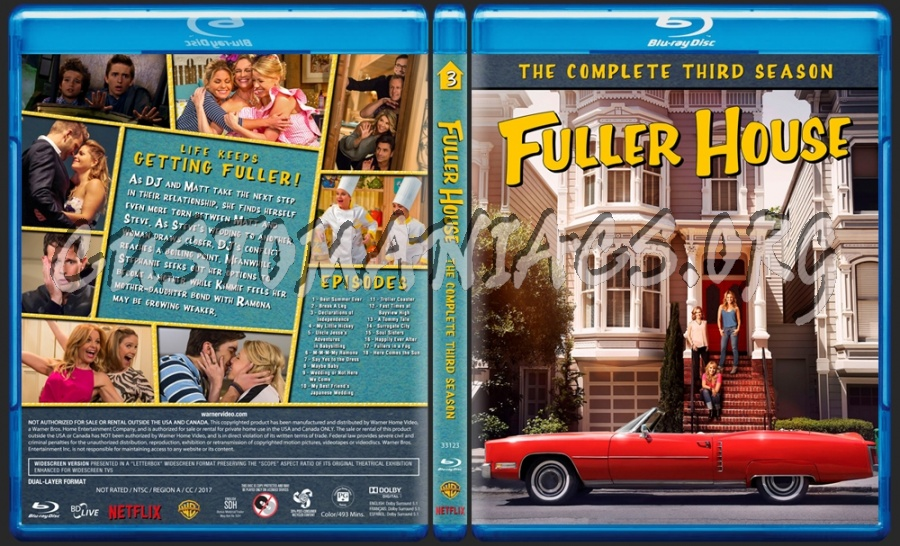Fuller House - The Complete Third Season blu-ray cover