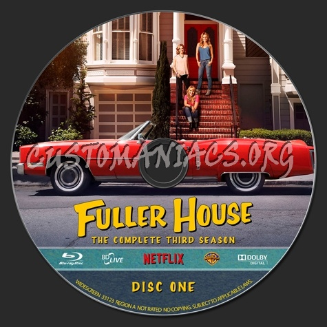 Fuller House - The Complete Third Season blu-ray label
