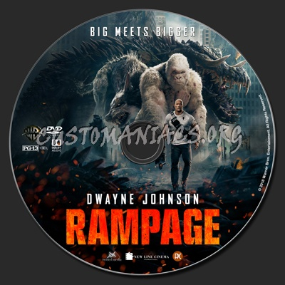 rampage 2018 dvd label dvd covers labels by customaniacs id