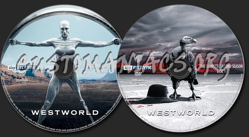 Westworld Season 1-2 dvd label