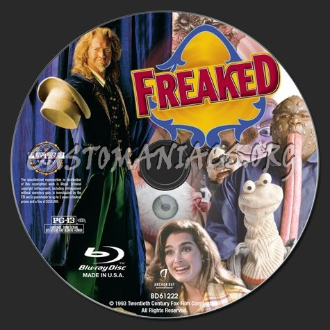 Freaked blu-ray label