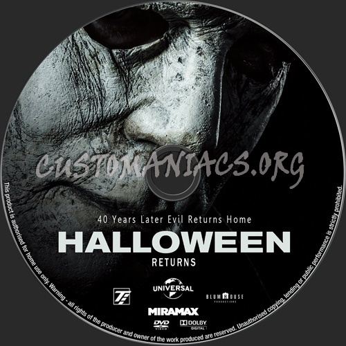 Halloween 2018 dvd label