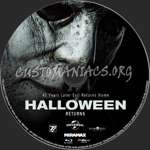Halloween 2018 blu-ray label