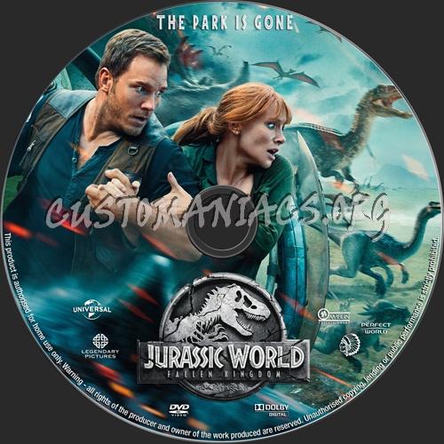 Jurassic World Fallen Kingdom dvd label