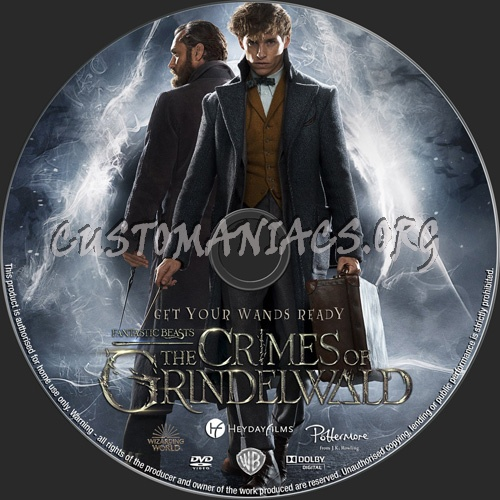 Fantastic Beasts The Crimes Of Grindelwald dvd label